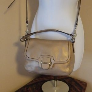 Coach 2 way shimmering crossbody leather purse